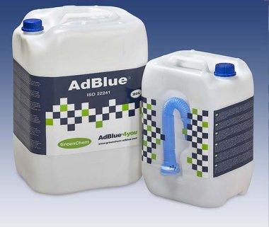 Garrafas de Adblue de 10 o 20 litros para rellenar su depósito de adblue sin tener que repostar en una estación de servicio